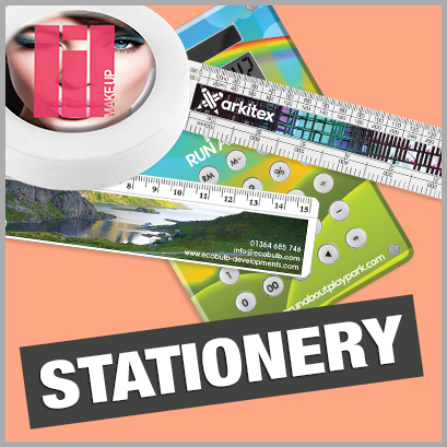 Stationery personalised with print